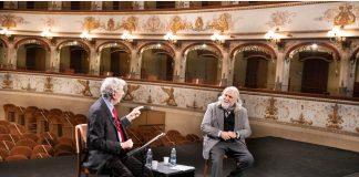 Augias e Ovadia al Teatro di Ferrara (foto Marco Caselli Nirmal)
