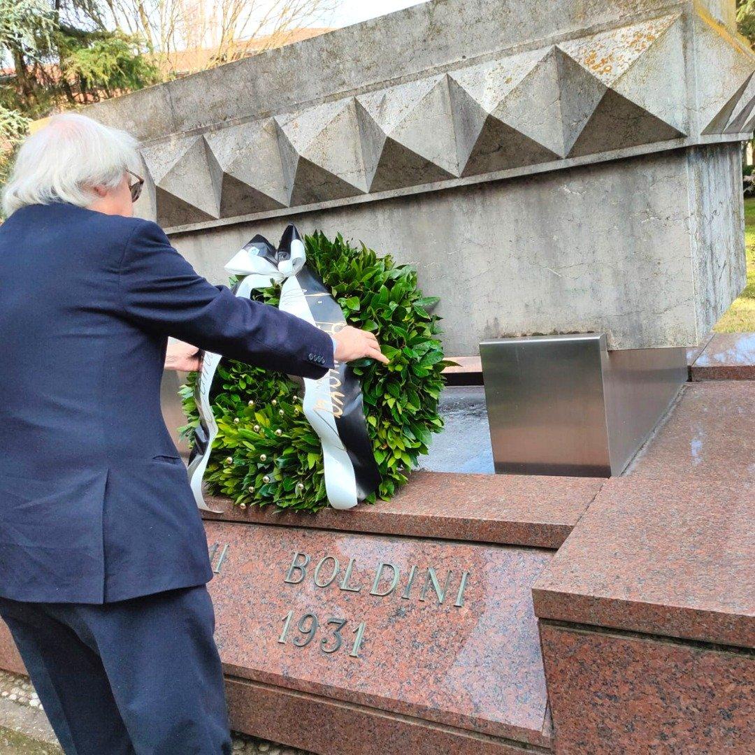 Vittorio Sgarbi alla celebrazione per il 90° anniversario della scomparsa di Boldini