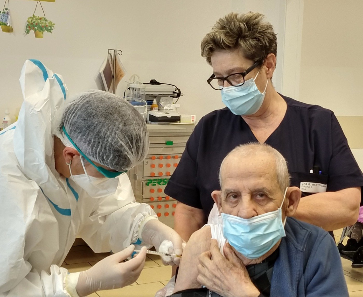 ospite vaccinato struttura CIDAS Mantovani
