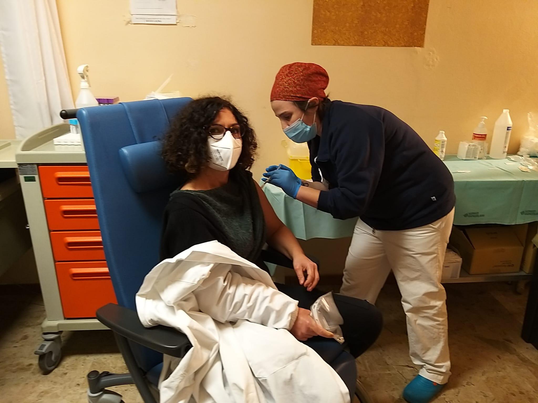 vaccinazione del personale del Centro Prelievi