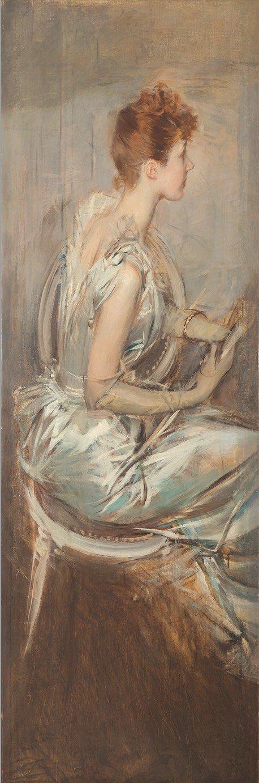 La contessa Berthier de Leusse seduta