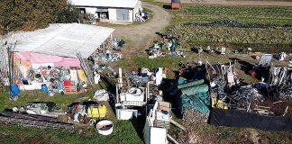 Sequestro rifiuti a Codigoro (foto Polizia provinciale)