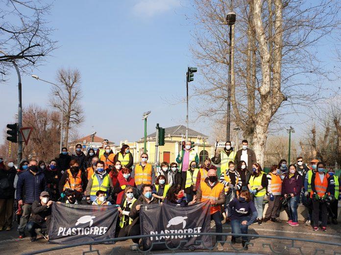 partecipanti raccolta rifiuti a Bondeno