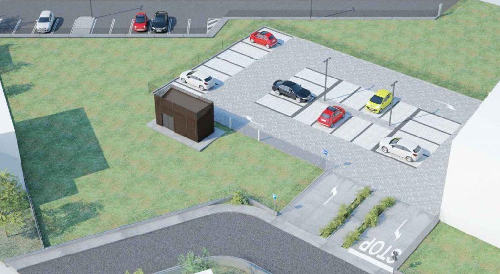 il render del nuovo parcheggio