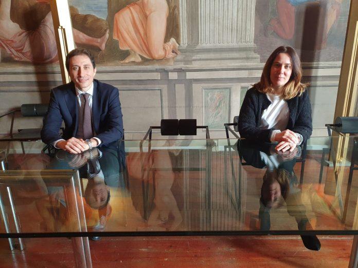 Mario Angiolillo con l'ass. Cristina Coletti