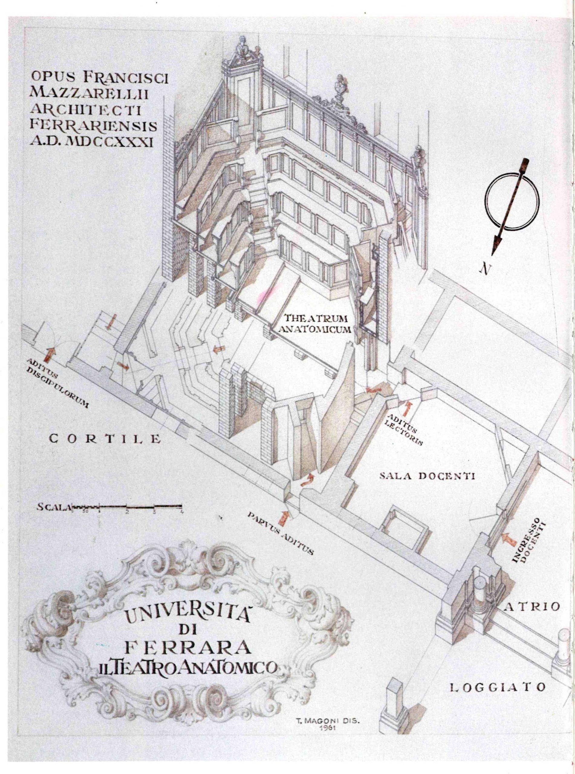riproduzione del progetto per il Teatro redatto da Francesco Mazzarelli nel 1731