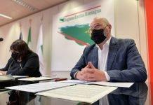 Conferenza stampa edilizia scolastica Bonaccini-Salomoni