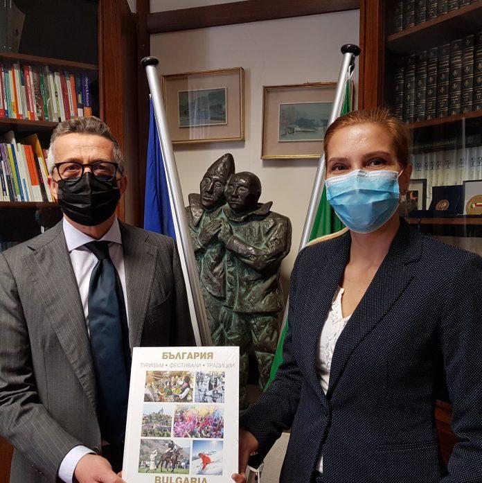 Il Console generale della Repubblica di Bulgaria, Tanya Dimitrova, e il Commissario straordinario della Camera di Commercio, Paolo Govoni