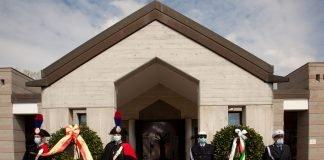 Cerimonia in Certosa a un anno dall'arrivo delle bare di Bergamo