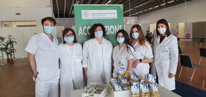 Biscotti Artigianali per l'autismo al Centro Vaccinazione Ferrara Fiera